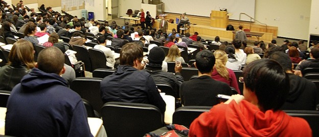 Students in a lecture theatre